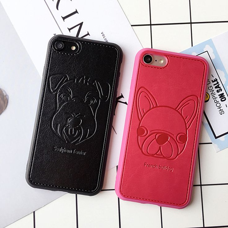 >> Click to Buy << Animal Lucky Dog Schnauzer pu phone cases for iphone 6 6plus 6splus hard covers BACK CASE fundas korean wholesale #Affiliate