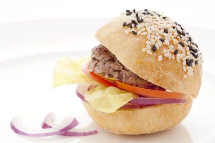 Mini hamburger di manzo, pane ai 7 luppoli Summer Cascade - Birrificio Angelo Poretti