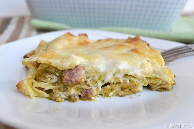 Lasagne al pistacchio, scopri la ricetta: http://www.misya.info/2015/05/24/lasagne-al-pistacchio.htm