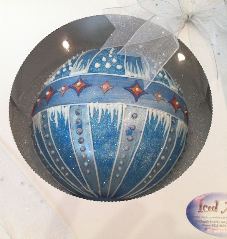 Large Christmas Tree Bauble made with the Siloverwood Ball Tins -