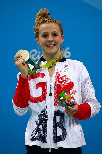 All smiles on the podium from Siobhan-Marie O'Connor at Rio 2016