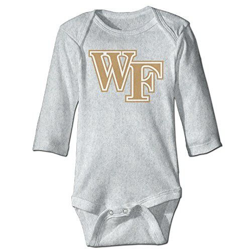 Baby Child 100% Cotton Long Sleeve Onesies Toddler Bodysuit Wake Forest Demon Deacons Climbing Clothes Ash Size 6 M