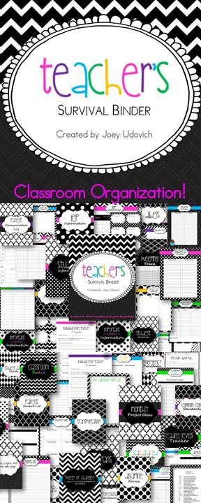 This is one of FIVE themes that I have made for my ULTIMATE Teacher Binder collection! :) You will NEVER have to thumb around your desk and filing cabinets for what you need. You will already have it in your binder...organized and neatly placed! After teaching for 6+ years, I finally did it and I'm super proud of it! I spoke to several of my fellow educators and found out what they needed at their fingertips and this is what I came up with. 240 pages of organization! $