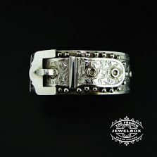Victorian Sterling Silver Buckle Cuff