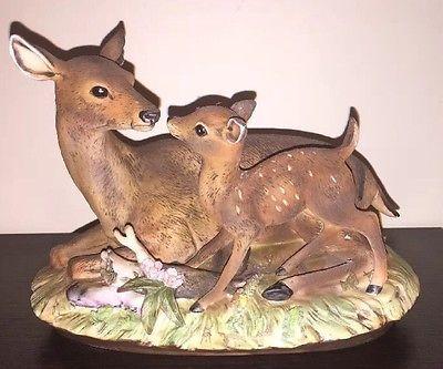 Vintage 1979 Homco Masterpiece Porcelain 8 Mother Deer