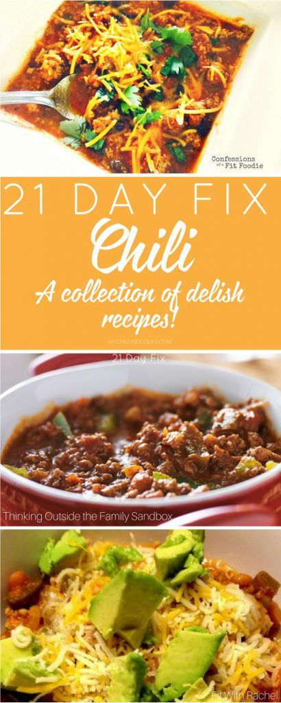 This 21 Day Fix Chili recipe collection is full of great meal prep recipes! Instant Pot Chili Recipes | 21 Day Fix Chili Recipes | Crockpot Chili Recipes | Healthy Chili Recipes via @bludlum
