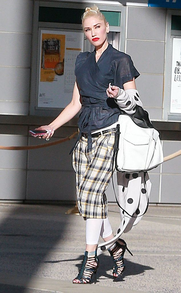 Gwen Stefani from The Big Picture: Today's Hot Pics  The birthday girl enjoys a family day at a theatre in Los Angeles.