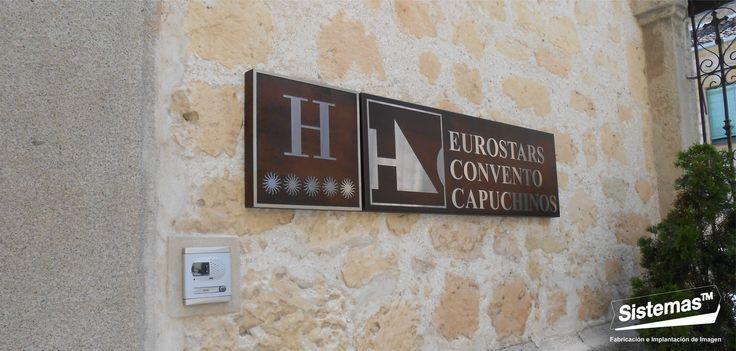 Rotulación Hotel Convento Capuchinos**** #Segovia. #Spain #Signage