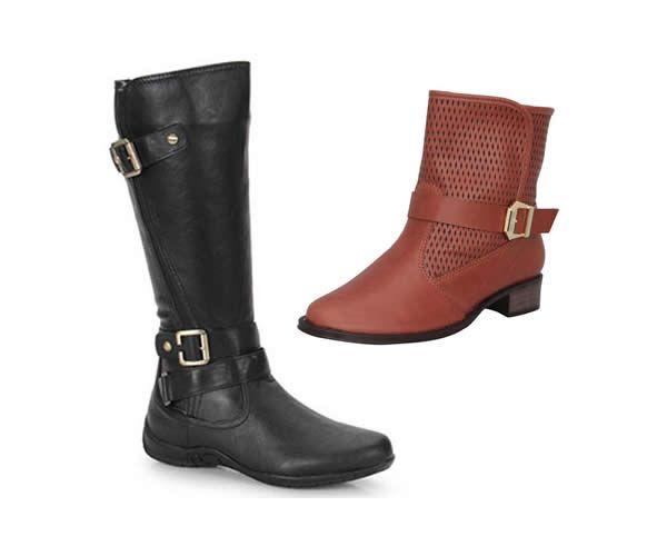 Diversos modelos de botas femininas por até R$ 90,00 na Americanas.