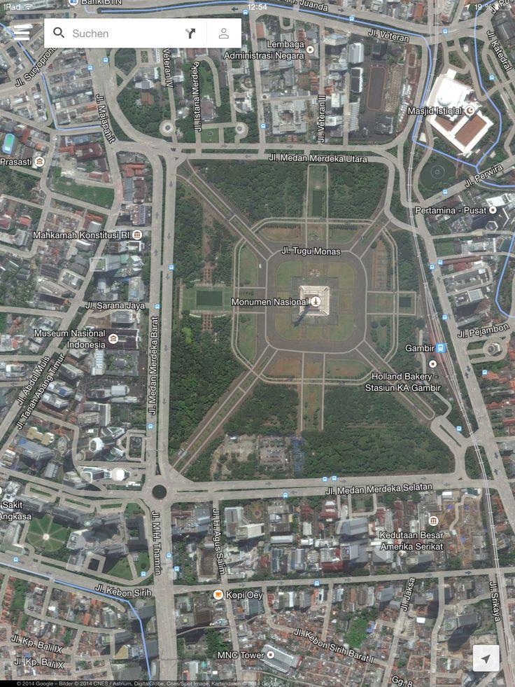 View on monas monument from otoritas jasa keuangan