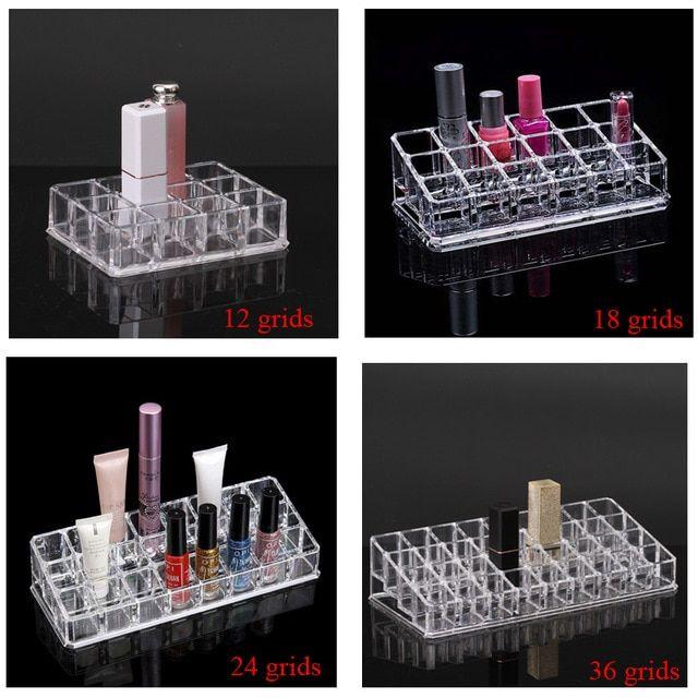 Clear Ps Lipstick Rack Nail Polish Organizer Jewelry Storage Box