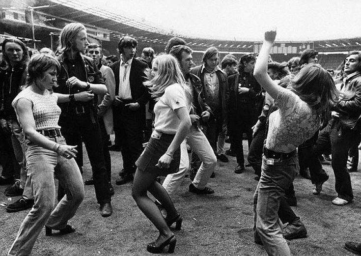 1972 Wembley Stadium (looks like it could be a group of kids dancing to a show in Portland in 2011)
