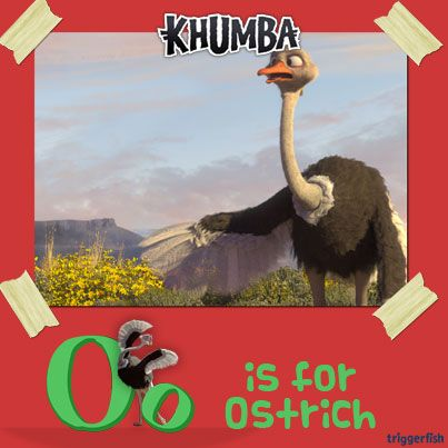 """Ostriches have impressive wings but they cannot fly. Our friend Bradley is very proud of his feathers and calls them his """"Works of art"""". Aaaaahh Bradley… ever the """"artiste""""!!  A-Z app for smartphones and tablets!!"""