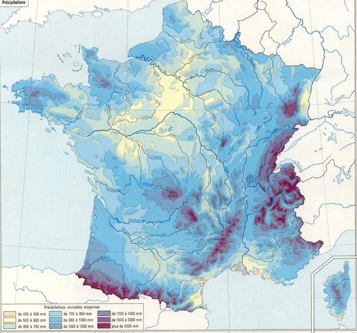 Précipitations annuelles en France
