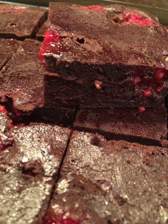 Dairy, Egg and Nut Free Raspberry Ripple Cake