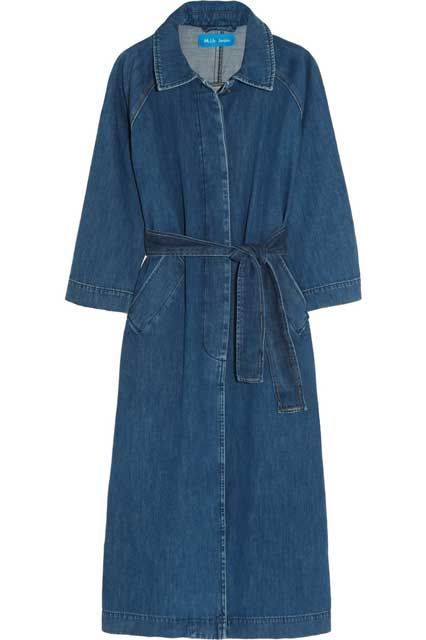 Your New Denim Jacket Is In This Slideshow #refinery29  http://www.refinery29.com/denim-jackets-for-women#slide-3  Who said a denim jacket had to look sloppy? This one's office-ready.Mih Jeans Denim Coat, $650, available at Net-a-Porter....