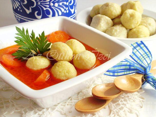 Magyaros krumpligombóc leves