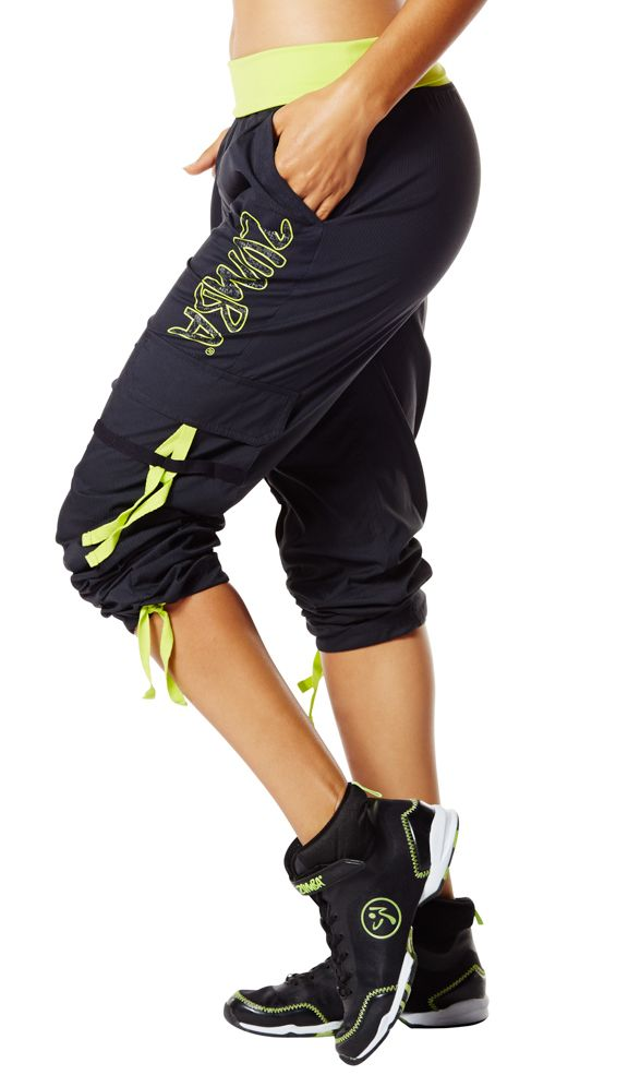 The all-new Soft-N-Stretch Zumba Cargo Pants let you move and groove across the floor with ease and comfort.