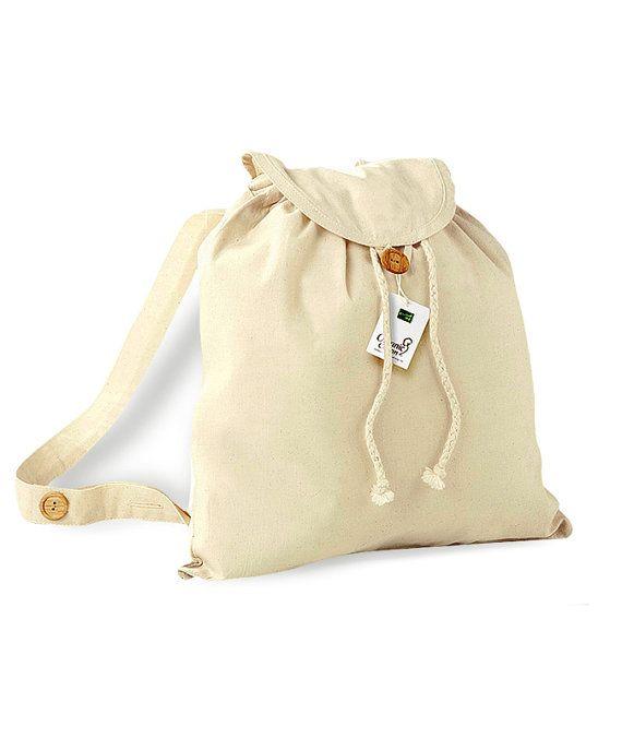 Organic cotton bag Festival Backpack Rucksack bag DrawString backpack bag bag
