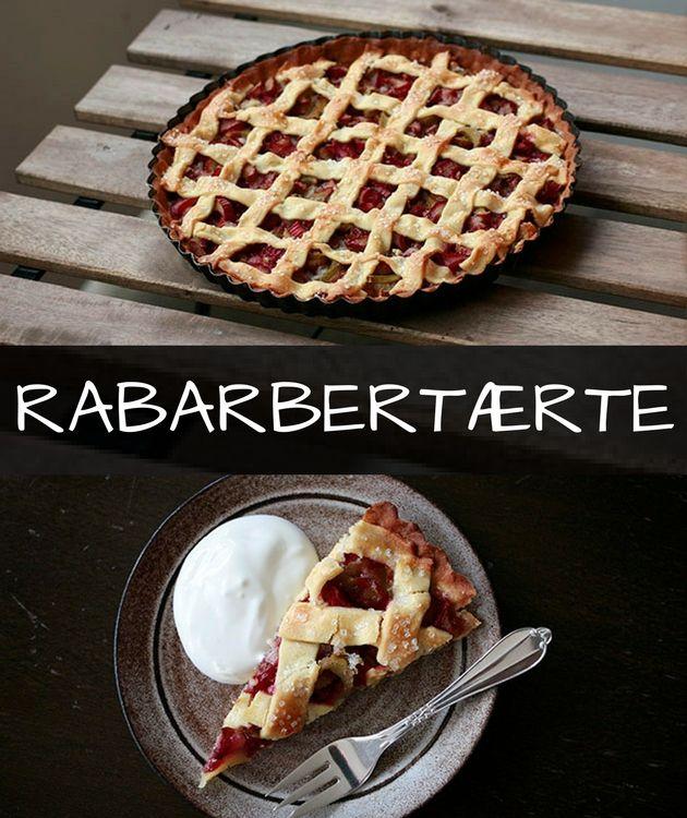 Den lækreste rabarbertærte med marcipan og en sprød mørdejsbund. Den er tæt på at være verdens bedste.