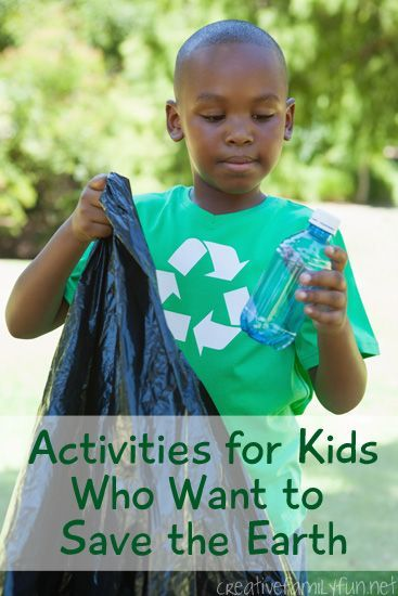 A round-up of fun activities for kids who want to save the earth. Eco-friendly, fun and perfect for Earth Day!