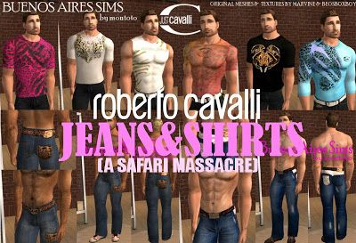 Male-Order Bride: Montoto_SK: Roberto Cavalli Jeans & Shirts for the Huge BB