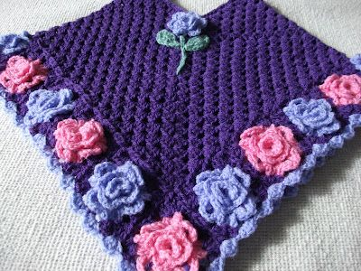 granny rose poncho - love the roses