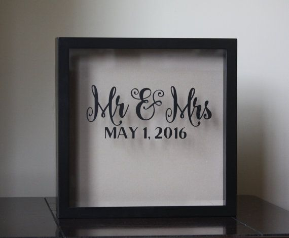 Mr and Mrs Wedding Card Holder Wine Cork Shadow Box New Design, wedding gift, wedding decor, ticket stubs  This premium-quality shadow box is a perfect way to collect wedding cards or signed wine corks (both at or after your wedding) and other mementos in remembrance of your special day. FAQ:  HOW MANY CARDS DOES THIS HOLD? Brides have told me it holds 85-100 cards, depending on the size of the cards. Important: Brides have also told me that most people will attach cards to their gift, so…