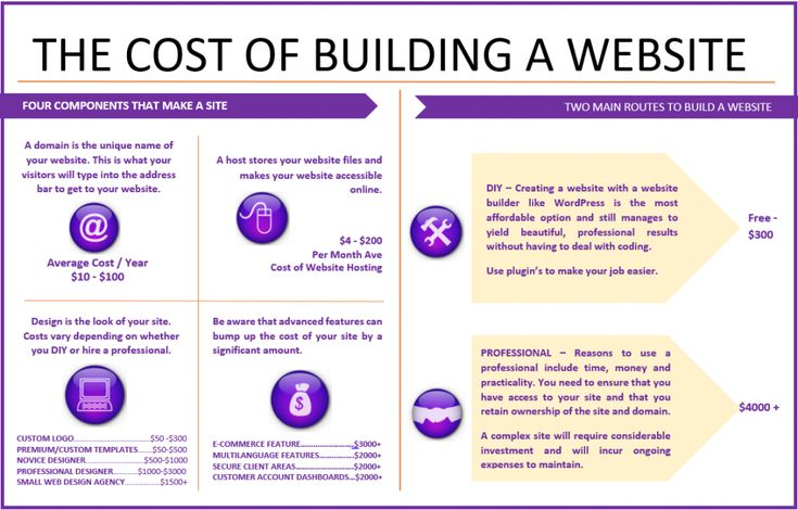 The Cost Of Building A Website - Infographic