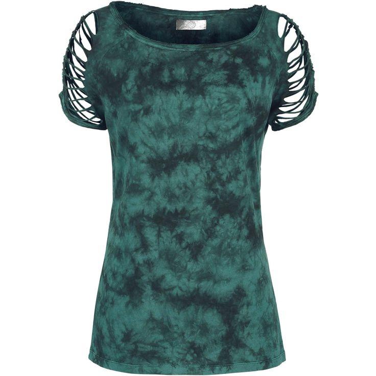 T-Shirt von R.E.D. by EMP:  - Cut-Outs an den Armen - Batik - Optik - erweiteter Rundhals