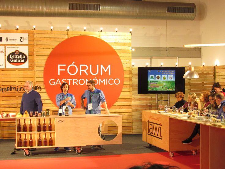 Presentación de las elaboraciones realizadas por Kike Piñeiro y Eloy Cancela, de A horta do Obradoiro. Evento realizado al amparo de la consellería de medio rural dando a conocer los productos gallegos con denominación de Origen.