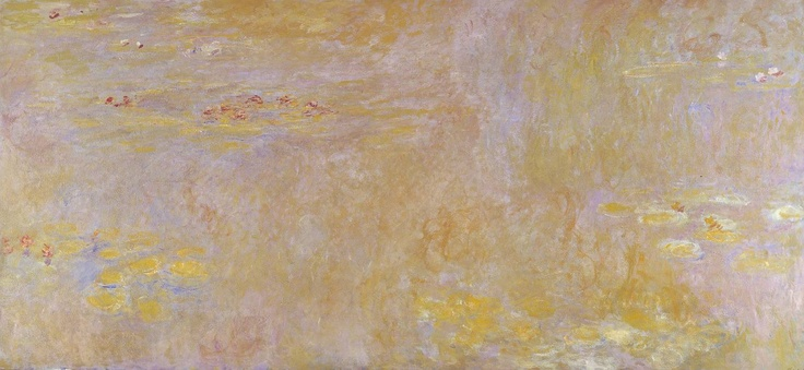 Artwork details  Artist  Claude Monet (1840‑1926)  Title  Water-Lilies  Nymphéas  Date after 1916  MediumOil on canvas  Dimensionsunconfirmed: 2007 x 4267 mm  Collection  Lent by the National Gallery 1997  On long term loan  Reference  L01903