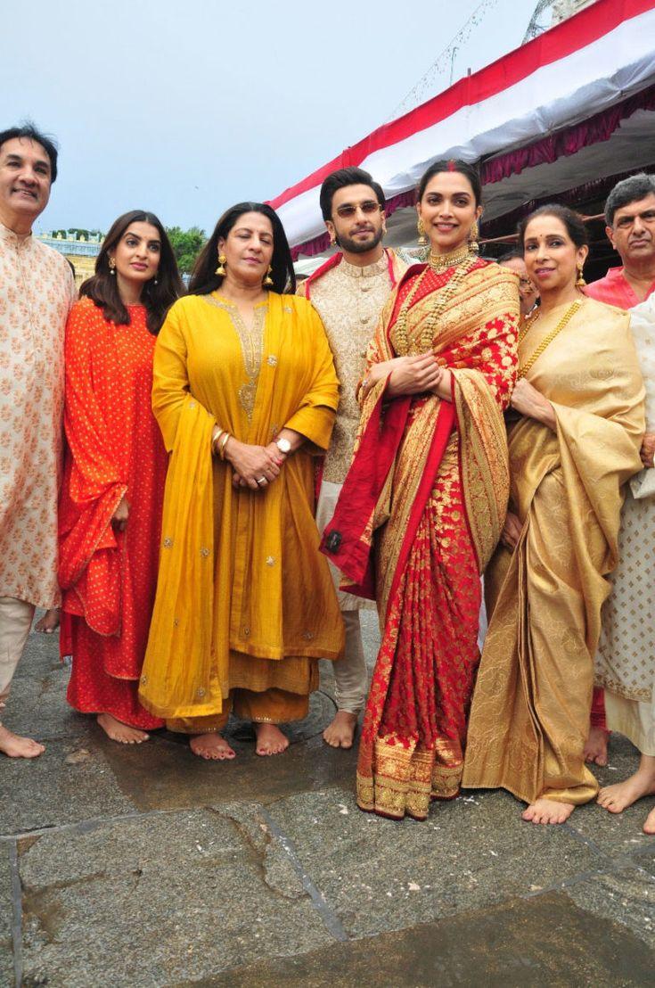 Deepika and Ranveer visit Tirupati on their 1st Marriage ...