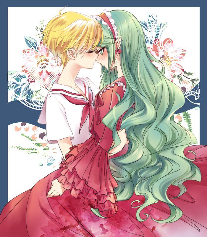 anime couple mermaid melody hippo x yuri