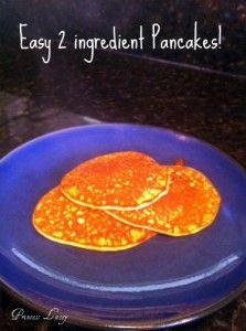Easy 2 Ingredient Gluten Free Pancakes!