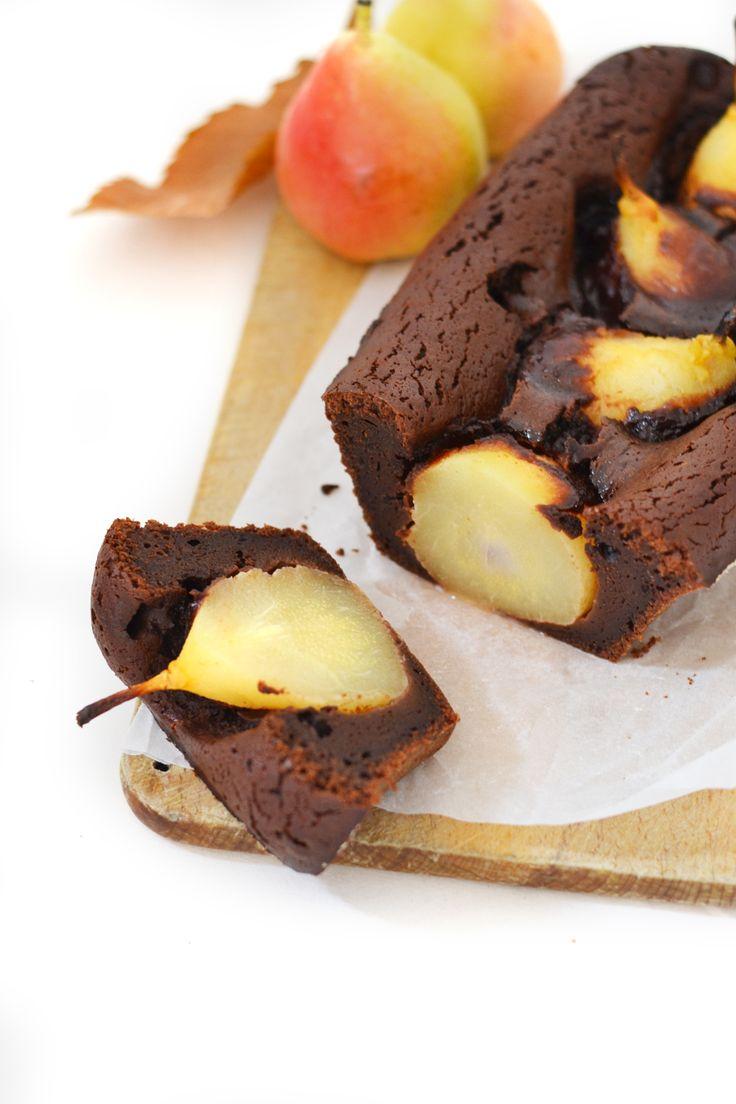 Moelleux chocolat & poires aux épices