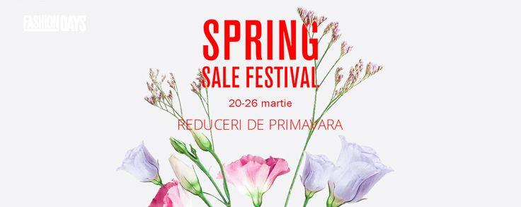 Spring Sale Festival cu reduceri de primavara la FashionDays. Cu #cashbackshopping primesti 2.5% din banii cheltuiti! Fa-ti cont acum!  #cashback #fashiondays #reduceri