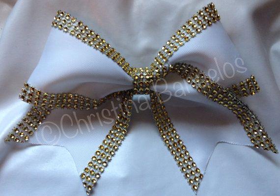 Elegant Glitzy Glam Gold Cheer Bow 192723861 by TheBowForce