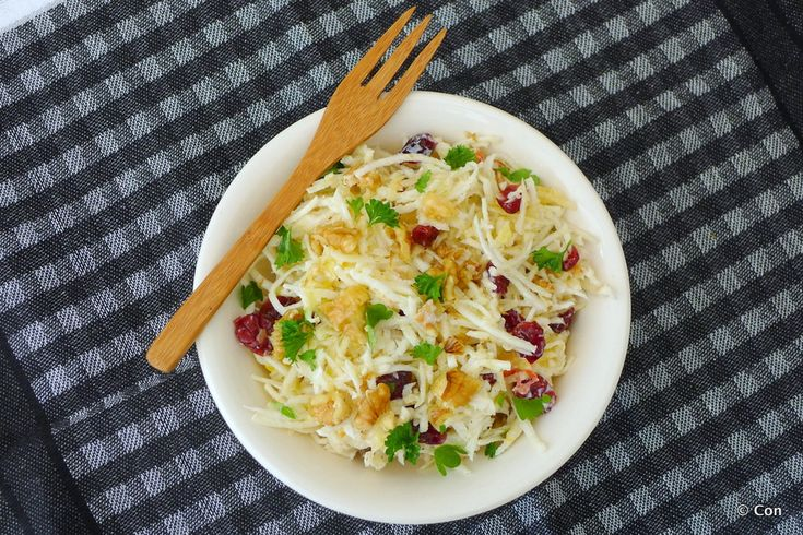 Recept nummer 100 op Con-serveert: waldorfsalade ~ minder koolhydraten, maximale smaak ~ www.con-serveert.nl