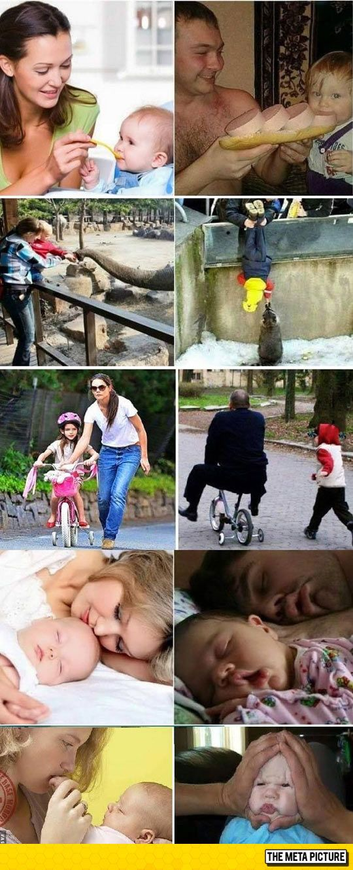 Raising A Child: Mom Vs. Dad
