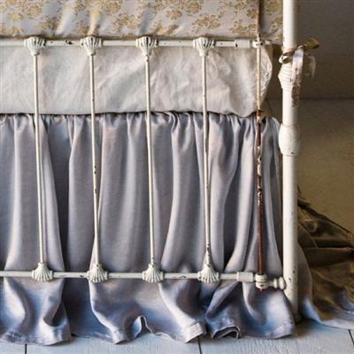 satin crib skirt!: Satin Crib, Bebe S Crib, Guest Bedroom, Notte Crib, Bed Skirts, Crib Skirts