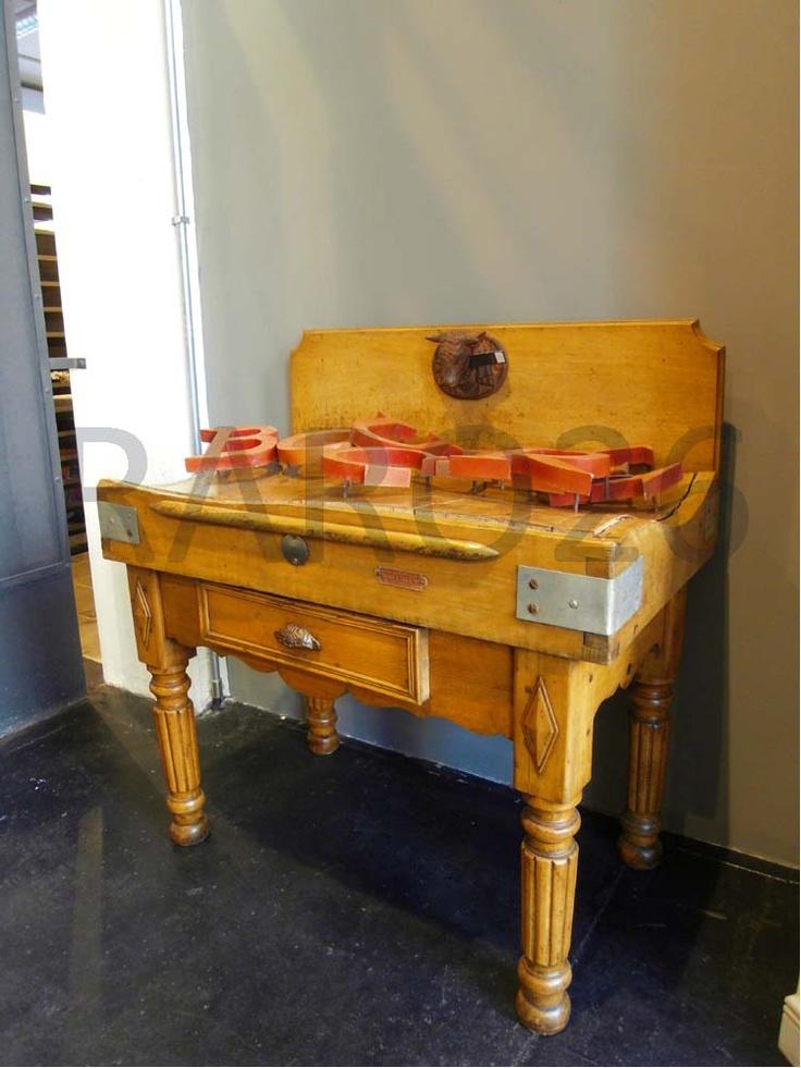 #Boucher bancone da #macellaio in legno