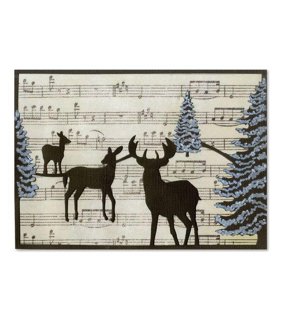 Sizzix Thinlits Winter Deer Card Die
