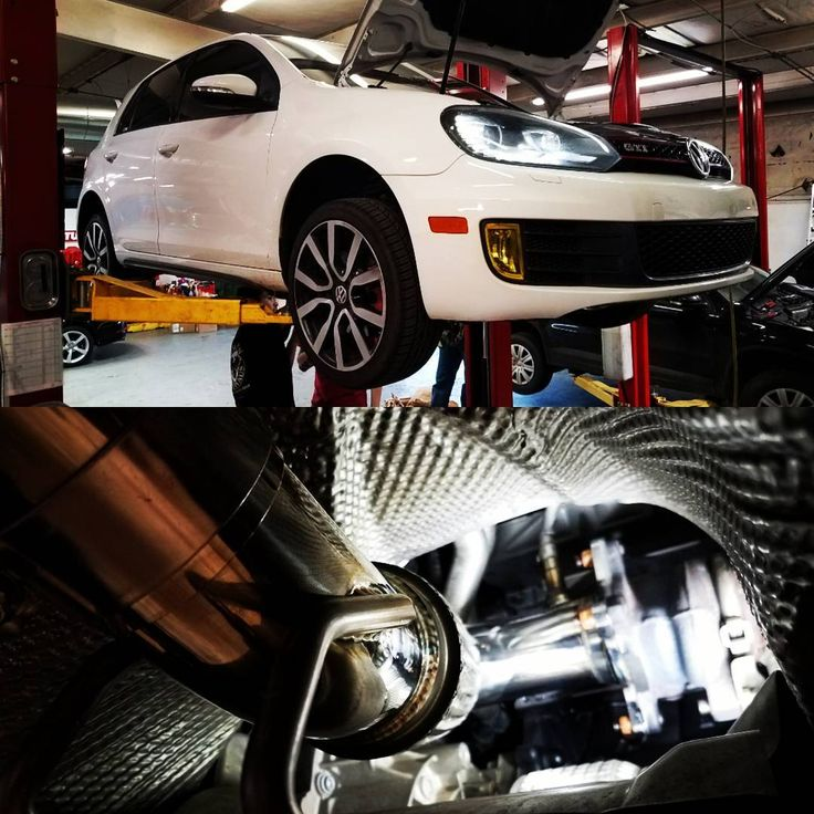 "30 Likes, 1 Comments - German Autohaus of Chattanooga (@germanautohaus) on Instagram: ""Downpipe install on a 2012 Volkswagen GTI 2.0T. They have to be the best first bolt-on for…"""
