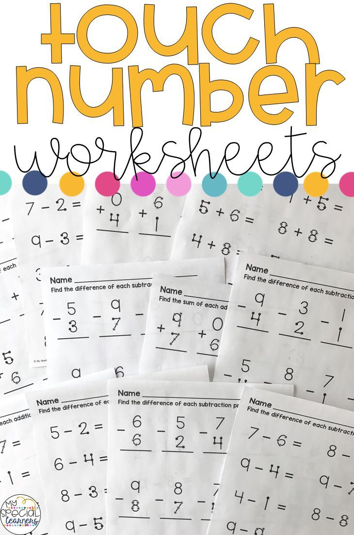 In This Product You Will Find 30 Worksheets With Touch Number Addition And Subtraction Problem Touch Math Touch Point Math Addition And Subtraction Worksheets