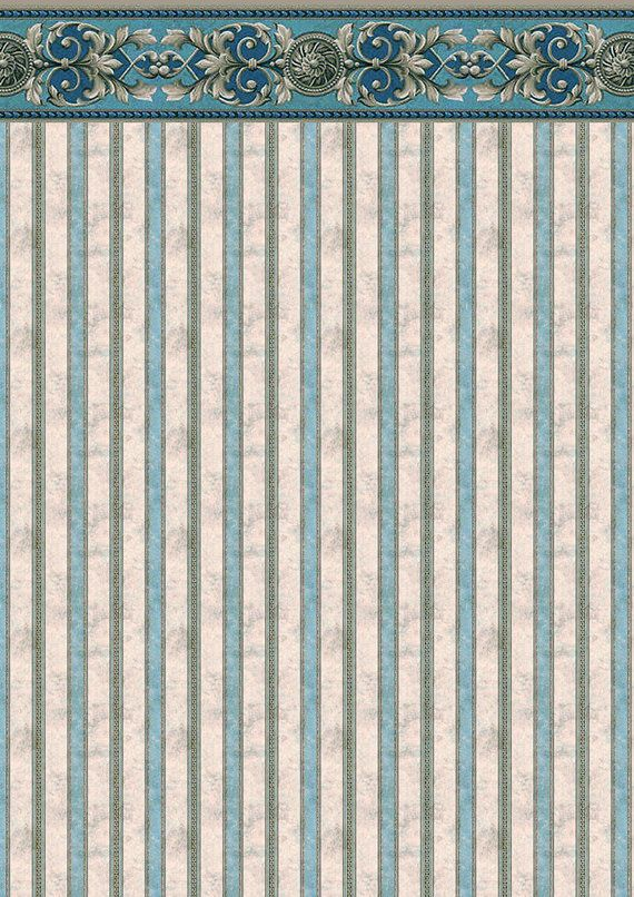 Dolls House Wallpaper 1/12th or 1/24th scale by miniaturecorner