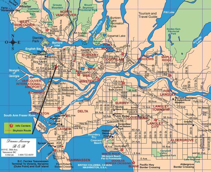 Vancouver tourist attractions map Maps Pinterest Vancouver