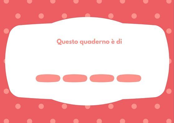 Etichette rosa per i quaderni #ilmioquaderno #scuola #etichette #bambini http://istruzionefaciledivertentejunior.com/etichette-per-quaderni-rosa/