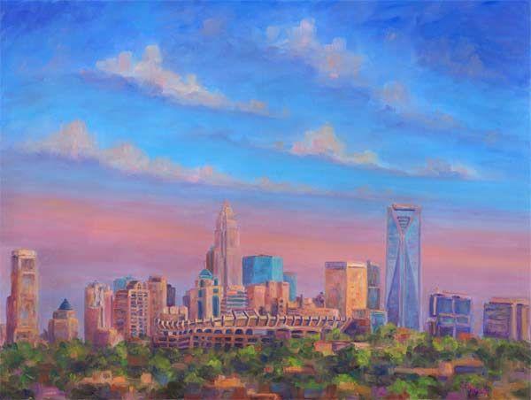 Carolina Panthers Oil Painting