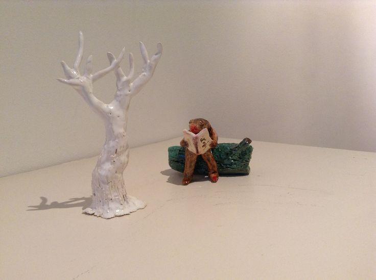 De la serie Seguidores, Mirella Musri 2014 Followers and followed. Ceramics.